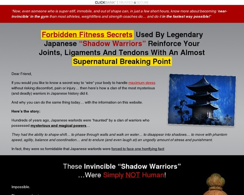 """Forbidden Fitness Secrets Used By Legendary Japanese """"Shadow Warriors"""""""