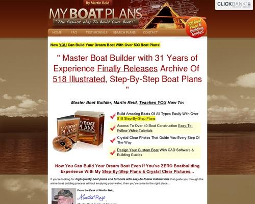 Myboatplans 518 Boat Plans - Earn $70.65 Per Sale! + $5 Bonus!