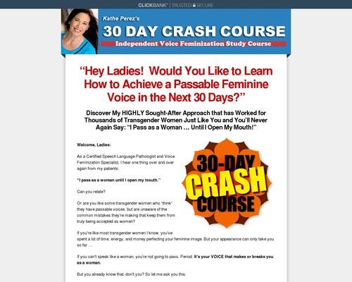 30 Day Crash Course | Transgender Voice Feminization