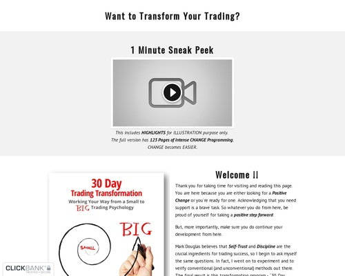 Self-coaching Program For Market Traders