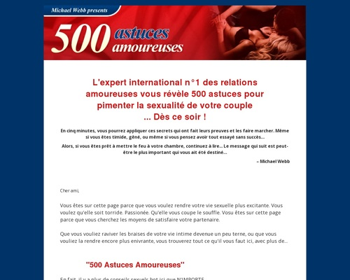 500 Astuces Amoureuses official