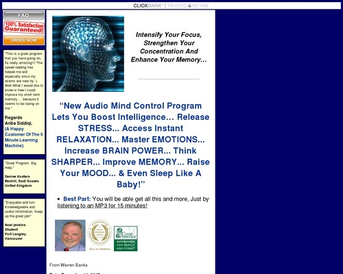 Audio Mind Control: Take Control Of Your MInd!