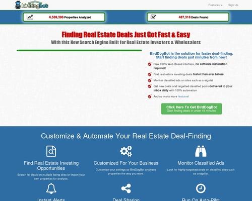 Birddogbot - Real Estate Deal-finding Solution For Investors