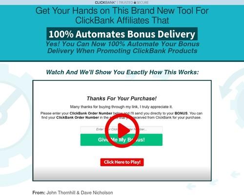 ClickBank Bonus Automator — ClickBank Bonus Automator