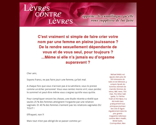 Michael Webb - Lèvres Contre Lèvres