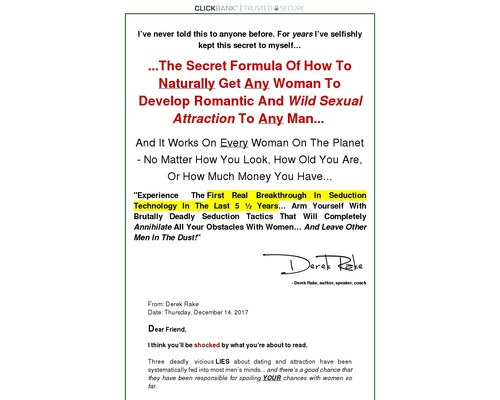 DeadlySeduction™: How To Seduce Out Of Your League by Derek Rake