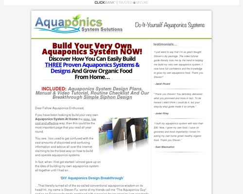 DIY Aquaponics 4 You - Growing Organic Food The Smart Way