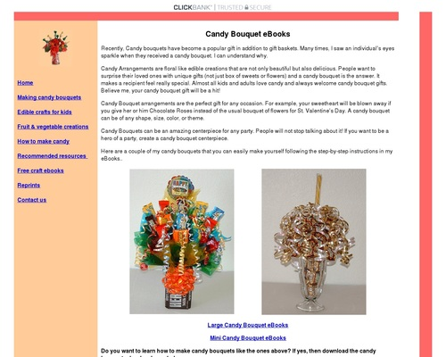 Learn how to make candy bouquets – Candy Bouquet Designs books. Start Candy