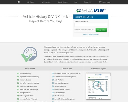 Vehicle History Reports | FAXVIN