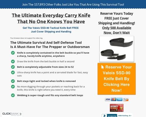 Dan Valois SSD-90 Knife Belt