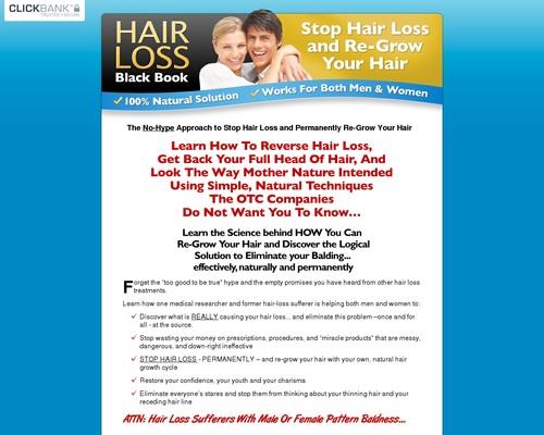 Hair Loss Black Book - Stop Hair Loss & Re-Grow Your Hair