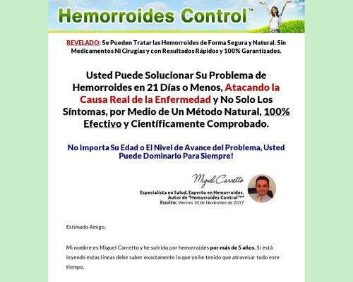 Hemorroides Control - 90% De Comisión!