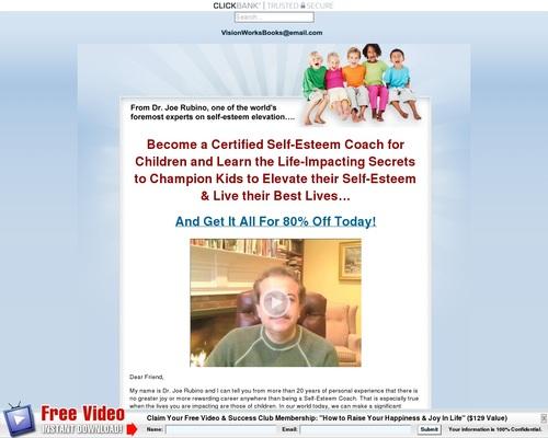 Self-esteem Elevation For Children Coaching Certification