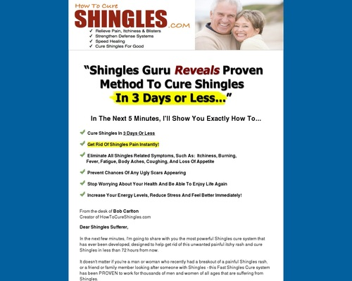 Fast Shingles Cure - The #1 Shingles Treatment Method Available