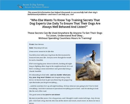 Secrets To Dog Training: Stop Your Dog's Behavior Problems!