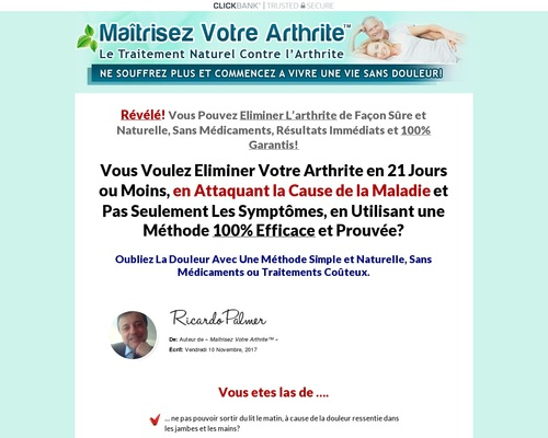 Maitrisez Votre Arthrite. Arthritis Treatment French Version.