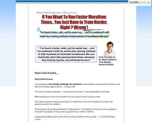 Marathon Training Plan - 100 Day Program | Olympian Marius Bakken's Marathon