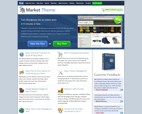 Wordpress Shopping Cart - WordPress Ecommerce - Market Theme
