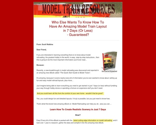 Quick Start Guide to Model Trains