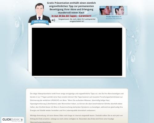 Nie mehr Akne - KOSTENLOSE Videopräsentation