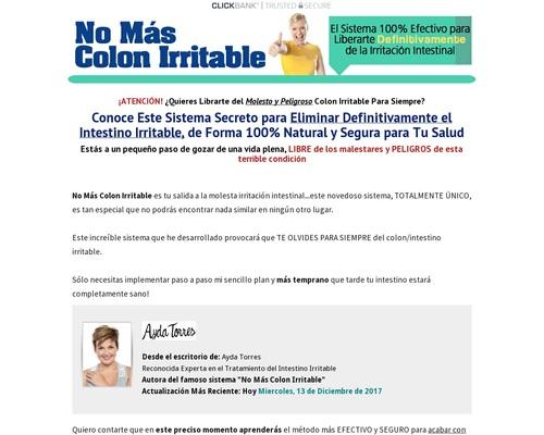 No Mas Colon Irritable. 100% De Comision! Las Mas Altas Conversiones!