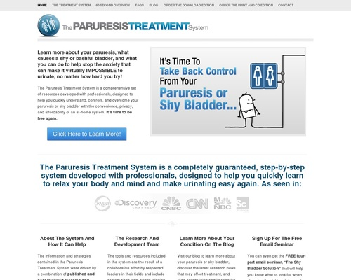 The Paruresis Treatment System – Resources and Help for Shy Bladder –