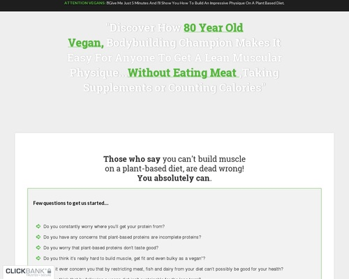 The Plant Based Bodybuilding System - Over 80 High Protein Recipes