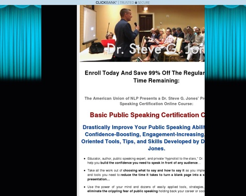 Basic Public Speaking Certification Course