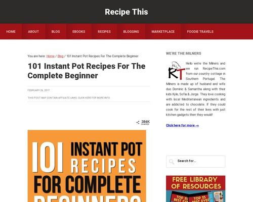 101 Instant Pot Recipes For Beginners Cookbook | Recipe This
