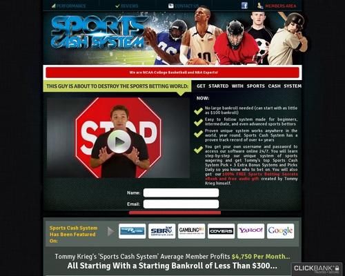 SportsCashSystem.com :: The #1 Sports Investing System - Best Sports