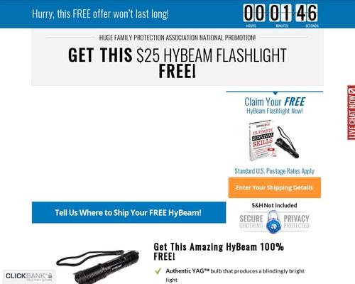 FREE HyBeam Flashlight