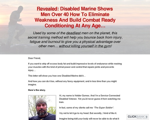 Revealed: Disabled Marine Shows Men Over 40 How To Eliminate Weakness And