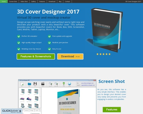 3D Cover Designer - Virtual 3D cover and mockup creator