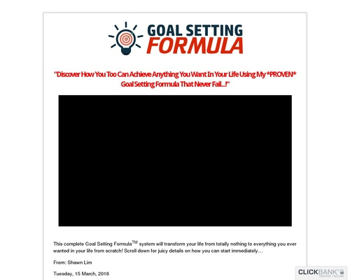 Goal Setting Formula Masterclass - Relaunched