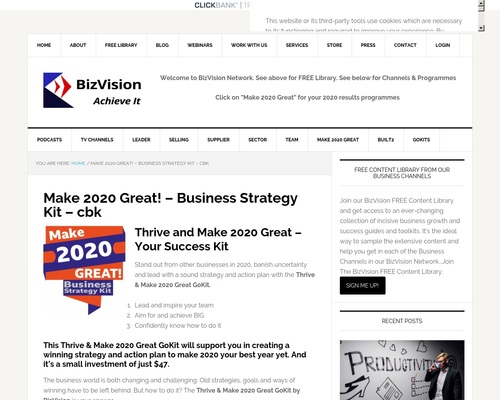 Make 2020 Great! - Business Strategy Kit - cbk - BizVision Hub -