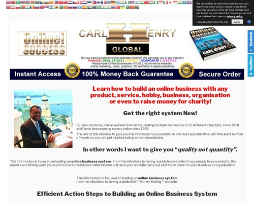 Carl Henry ONLINE! SUCCESS - CB