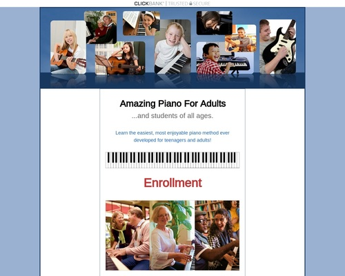 Enrollment - Amazing Piano Lessons For Teens & Adults