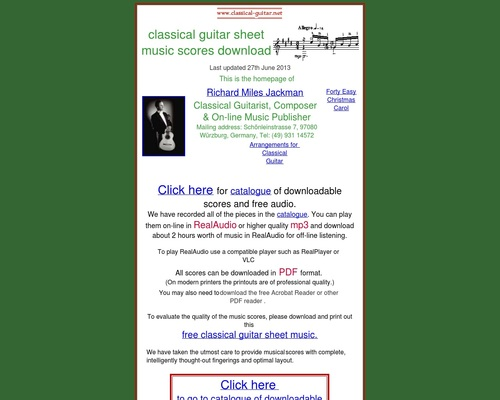 Classical guitar sheet music - downloadable scores