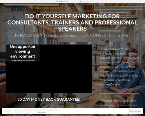 Register for DIY Marketing for Consultants, Trainers and Professional