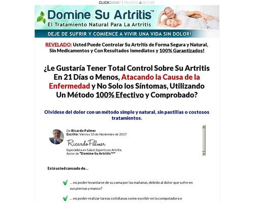 Domine Su Artritis - 90% De Comisión. Grandes Ventas