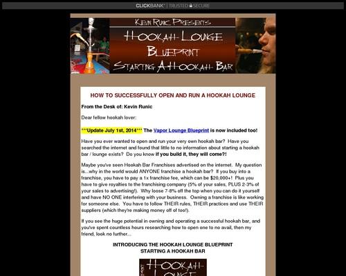 Hookah Bar Blueprint - How to Start a Hookah Bar