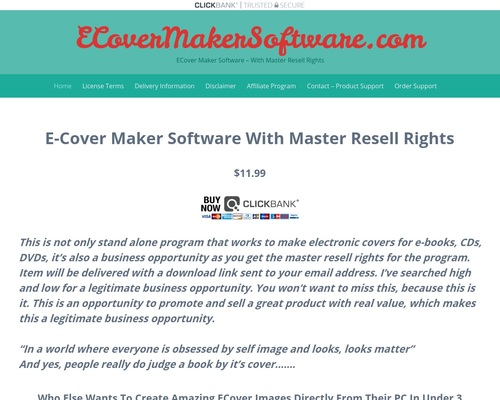 ECoverMakerSoftware.com | ECover Maker Software – With Master Resell
