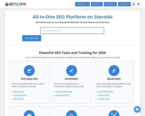 GetSEOfix - Best SEO Tools for Your Site and SEO Training