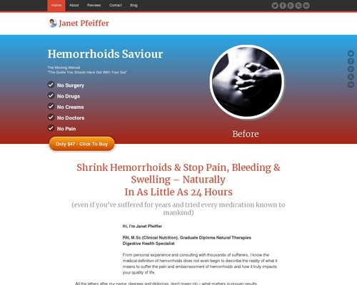 Hemorrhoids Saviour - Cure Hemorrhoids Forever - Now Pays $27