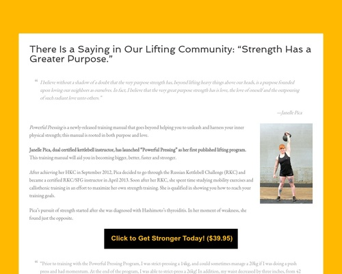 """There Is a Saying in Our Lifting Community: """"Strength Has a Greater Purpose."""""""