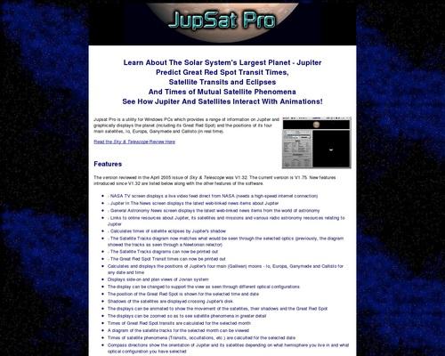 Jupsat Pro - Jupiter Observer's Software Toolkit