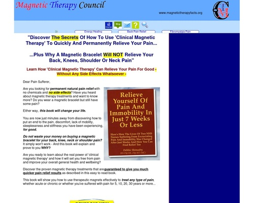magnetic therapy free book