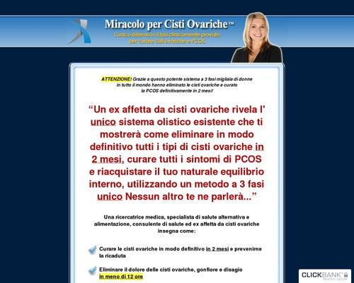 Miracolo per Cisti Ovariche ™ - Curare Cisti Ovariche e PCOS naturalmente