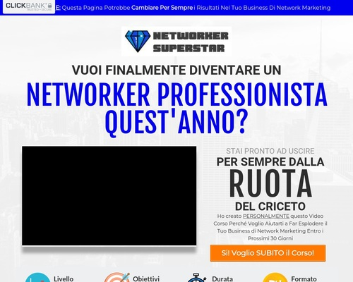 Ecco il Video Corso Networker Superstar
