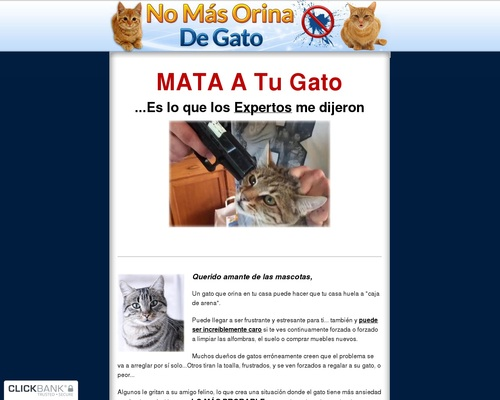 No Mas Orina De Gato - Como hacer que tu gatos deje de orinar fuera de su